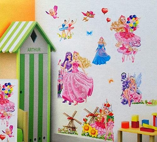 3d Barbie Wall Stickers Cartoon Snow White Mural Art Wallart Winow Cling  Nursery Wall Stickers Sticker Decor Sticker Decor For Walls From  Uhomedecor, ... Part 43