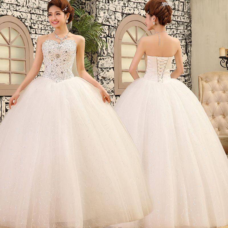 Wedding Gown Bra: 2015 Luxury Wedding Dresses Sequins Bra Pearl Diamond Lace