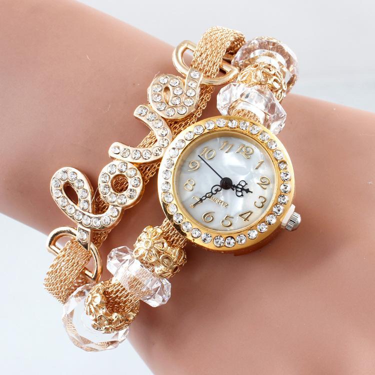 new fashion luxury pearl flower watches pearl watch women