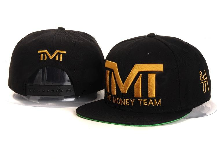 2ae7fc23cd07a 2019 TMT The Money Team Snapback Caps   Hats Black With Gold Logo Cotton  Hiphop Men Hat From Zhongxiaoyan1