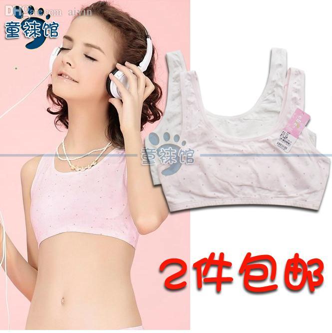 e80350a22e Girls  Cotton Crop Tops Green   Pink. Training Bras .