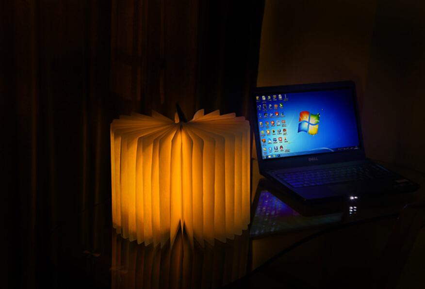 Charging flip books creative mini night light, LED folding book light, literary temperament chandeliers, bedside lamps