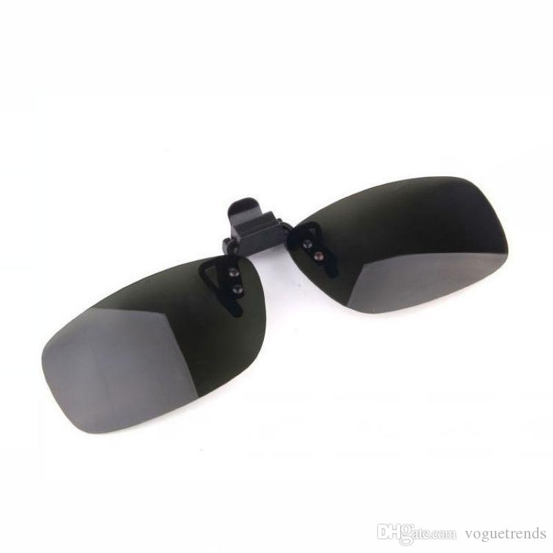 3b0918fd61 Polarized Clip On Flip Up Rimless Sunglasses Mens Womens Plastic Frame  Polarised Green Lenses Clip Ons For Prescription Glasses 37mm High Native  Sunglasses ...