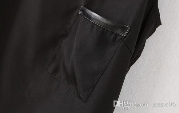 女性シフォントップスティーシアーブラウスシャツファッションセクシーな女性ソリッドカラーレザーポケットベストプラスサイズの夏のビーチ衣料品ギフト