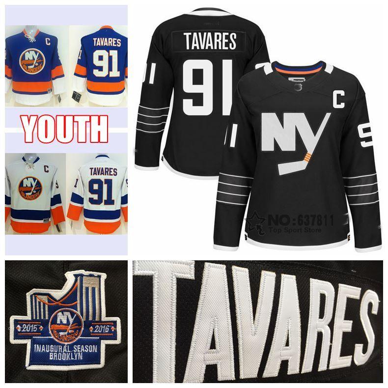 dfd12a2cb new york islanders 91 john tavares white kids jersey