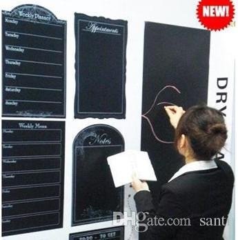 Moda Sıcak 45x200 CM Çıkarılabilir Blackboard Sticker Vinil Kara Tahta Duvar Sticker Çocuk oyuncak eğitim oyuncak boyama kurulu