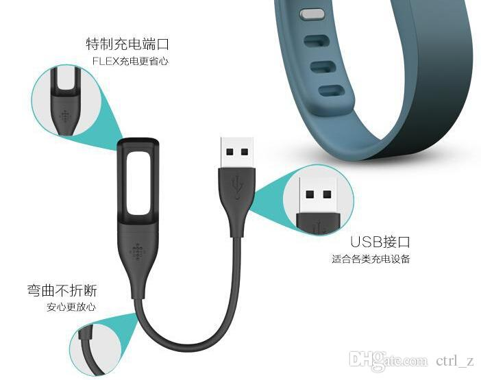 USB Power Charger Charging Charge Cable Cord for Fitbit Flex Wireless Wristband Bracelet black color in stock