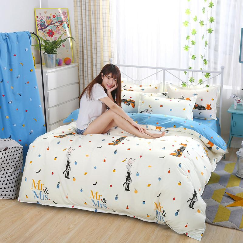 Cotton Bedding Set Queen Size Bedclothes With Child Duvet Cover Bed Sheet  Set King Size Girls Bedding Sheets Kids Bed Linen Green Bedding Sets Queen  Bedding ...