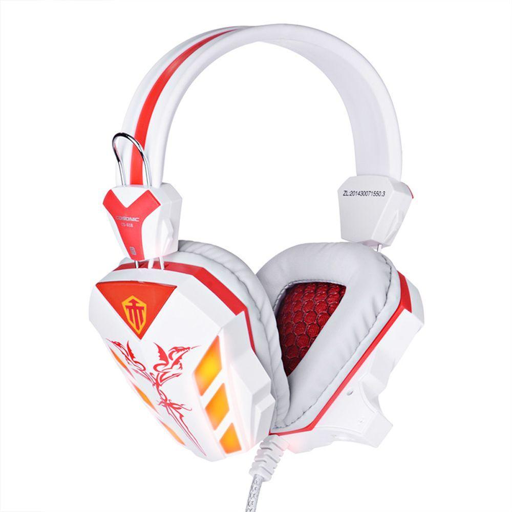 NOUVEAU LED Lumière Bruit Annulation Glaris Cosonic CD-618 Gaming Casque Écouteurs Casque avec Microphone pour Bureau Tablet PC