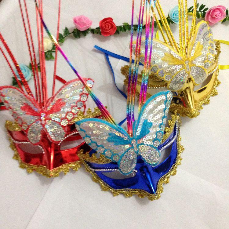 Новый световой бабочка дождь маскарадная маска дети Маска Хэллоуин Маска ночной клуб Оптовая блошиный рынок