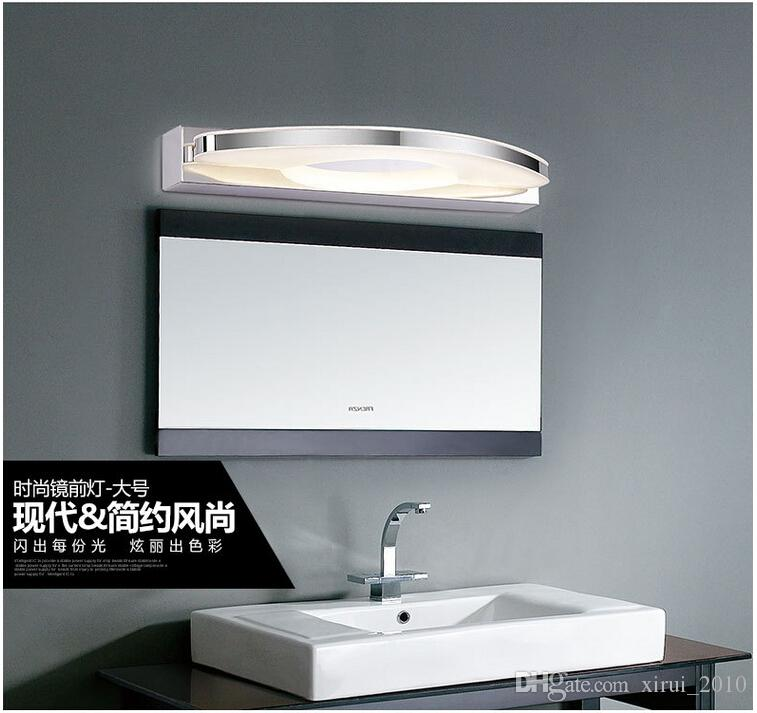 2018 20w Headlight Stainless Steel Bathroom Mirror Cabinet Modern Minimalist Curved Arch Lamp Led Wall Warm White Big From Xirui 2010