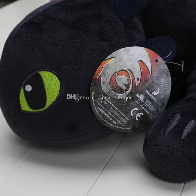 55cm Night Fury Peluche Come addestrare il tuo drago 2 bambole senza denti di drago senza denti