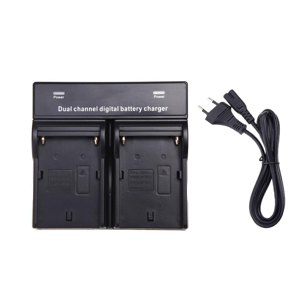 2014 SONY NP-F970 F750 F960 용 듀얼 AC / DC 디지털 배터리 충전기 QM91D FM50 FM500H FM55H 배터리 카메라 블랙