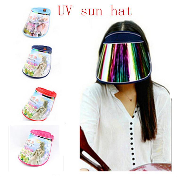 2015 New Outdoor Plastic Sun Visor Hat UV Protection Sport CAP ... 1de037a1f20