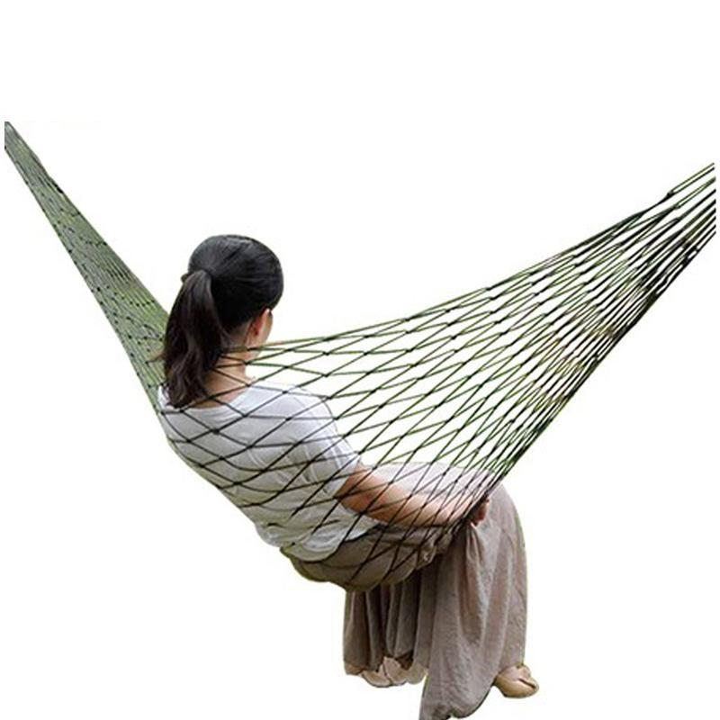 Popular Brand 260x140cm Portable Parachute Fabric Camping Hammock Hanging Bed With Mosquito Net Sleeping Hammock Outdoor Hamaca Warm And Windproof Sports & Entertainment