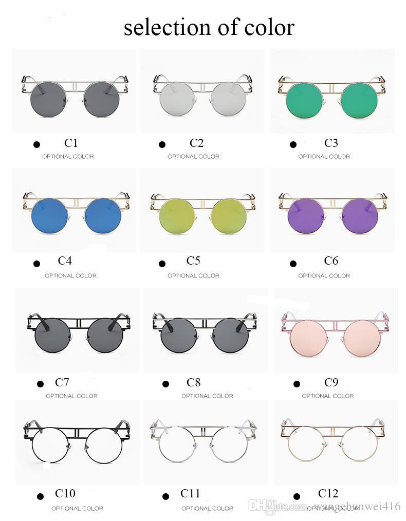 Nuovi occhiali da sole oversize occhiali da sole di colore occhiali in metallo personalità occhiali stile europeo e americano all'ingrosso i