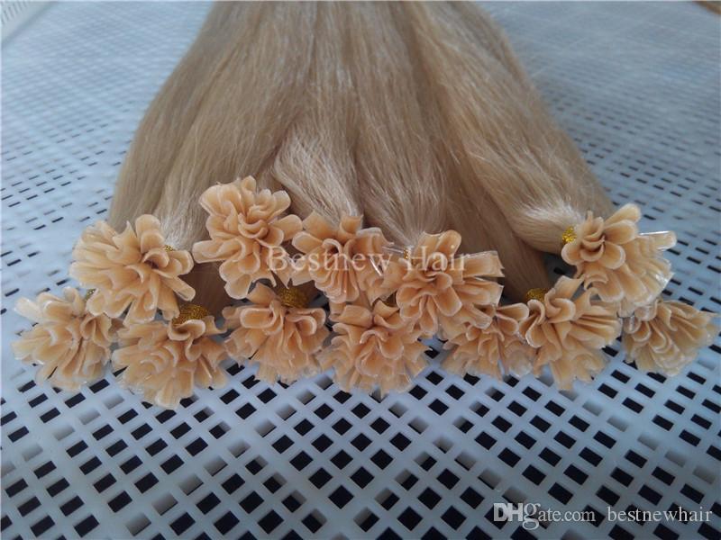 LUMMY Nail Tip Kératine pré-liée pointe U Indian Fusion Remy Hair Extensions 14 Human