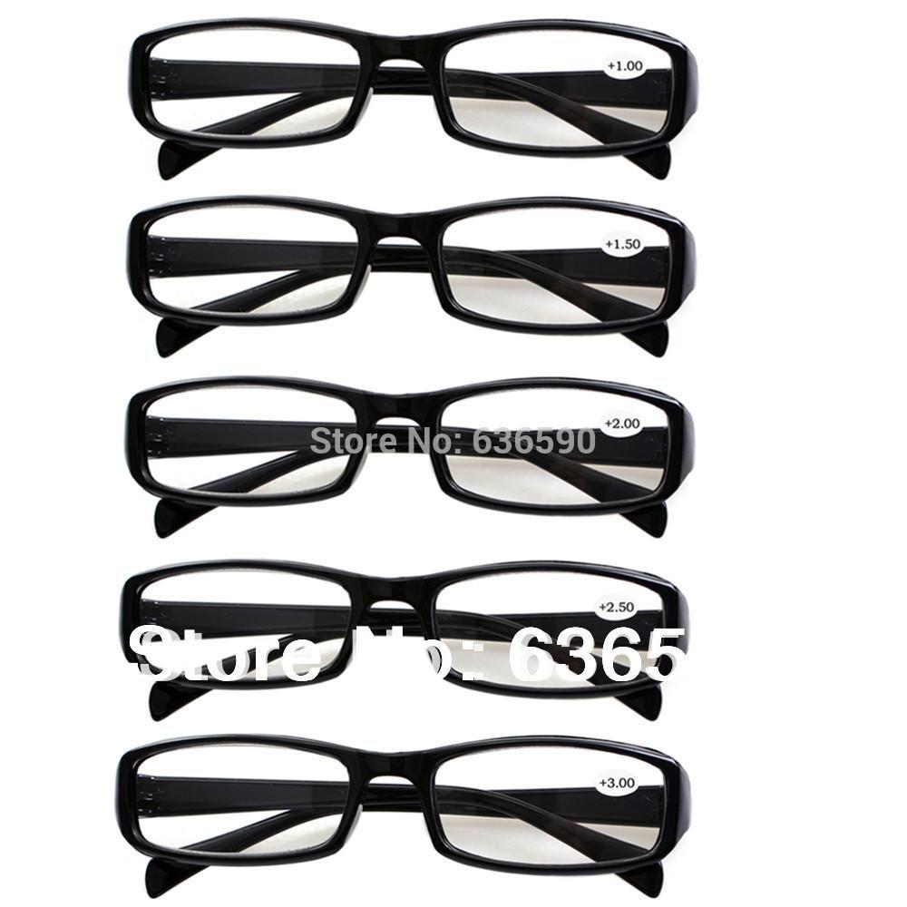 11784bc8b Compre 5 Pares Inquebrável Preto Ou Tortoiseshell Mens Das Mulheres Óculos  De Leitura Duráveis Óculos Longsighted Lentes De Força +1.00 Para + 4.0 De  ...