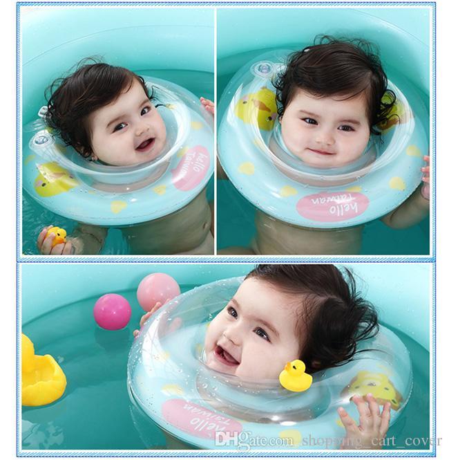Nettes Baby-Kind-Kleinkind-Kind-neugeborenes Ansatz-Schwimmen-Schwimmen-Bad-Ring-Sicherheitshilfe-Floss-Rohr-Pool-Boot