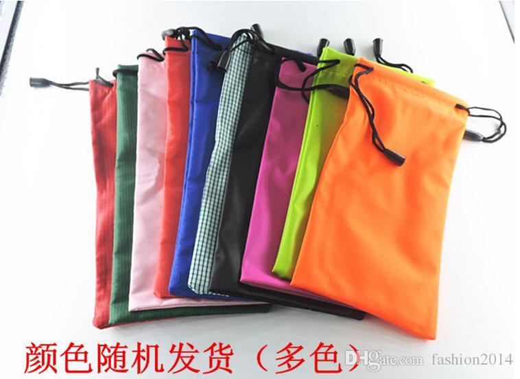 High quality 18*9cm waterproof sunglasses pouch soft eyeglasses bag glasses case many colors mixed