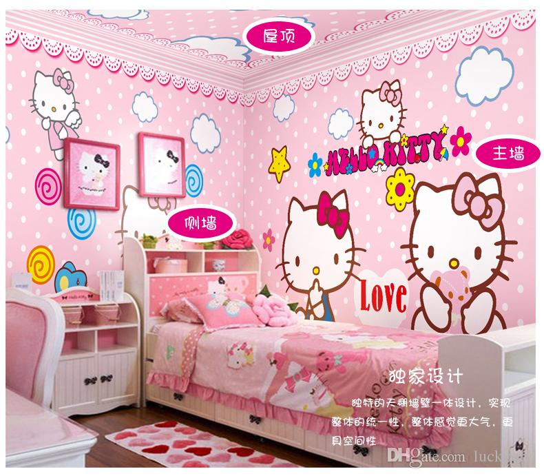 New Custom Childrens Room 3d Wallpaper Girl Bedroom Living Room Tv ...