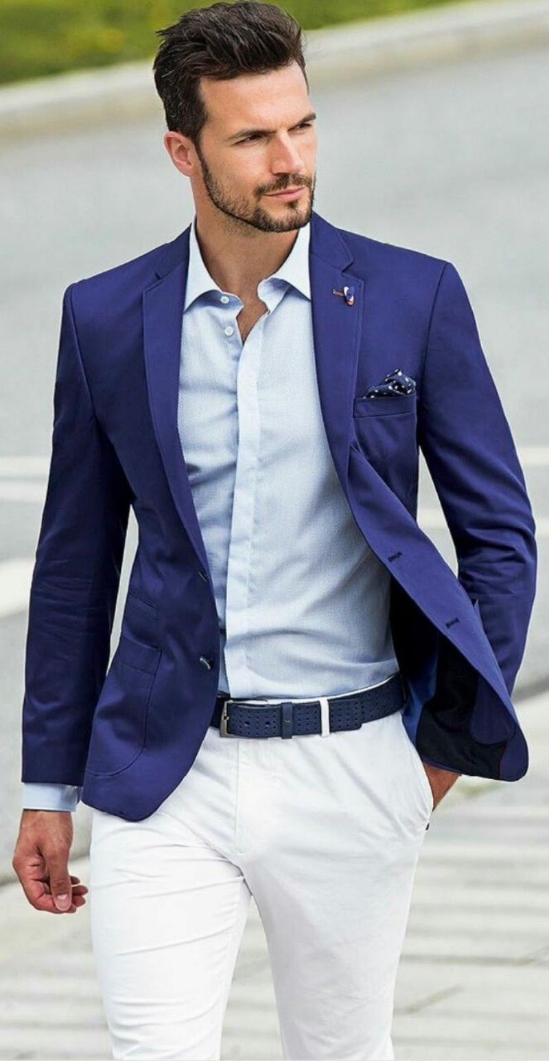 Beach Groom Tuxedos Suit Fit Two Button Slim Spring Party Best Man Evening Casual Men Suits Groomsman/Men Suits Jacket+Pants+Tie C1657