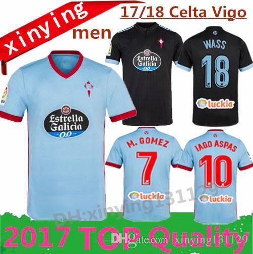 ... Celta Vigo Home Soccer Jersey Thai Quality 2017 2018 Bongonda Hernandez  Nolito Iago Aspas Away Celta De Vigo Football Shirt By Xinying131129 |  Dhgate.