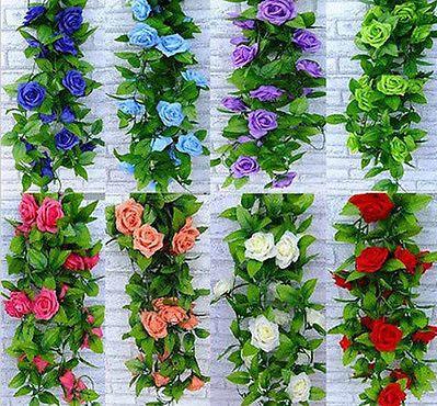 artificial flowers silk flowers multi color silk rose flower fake