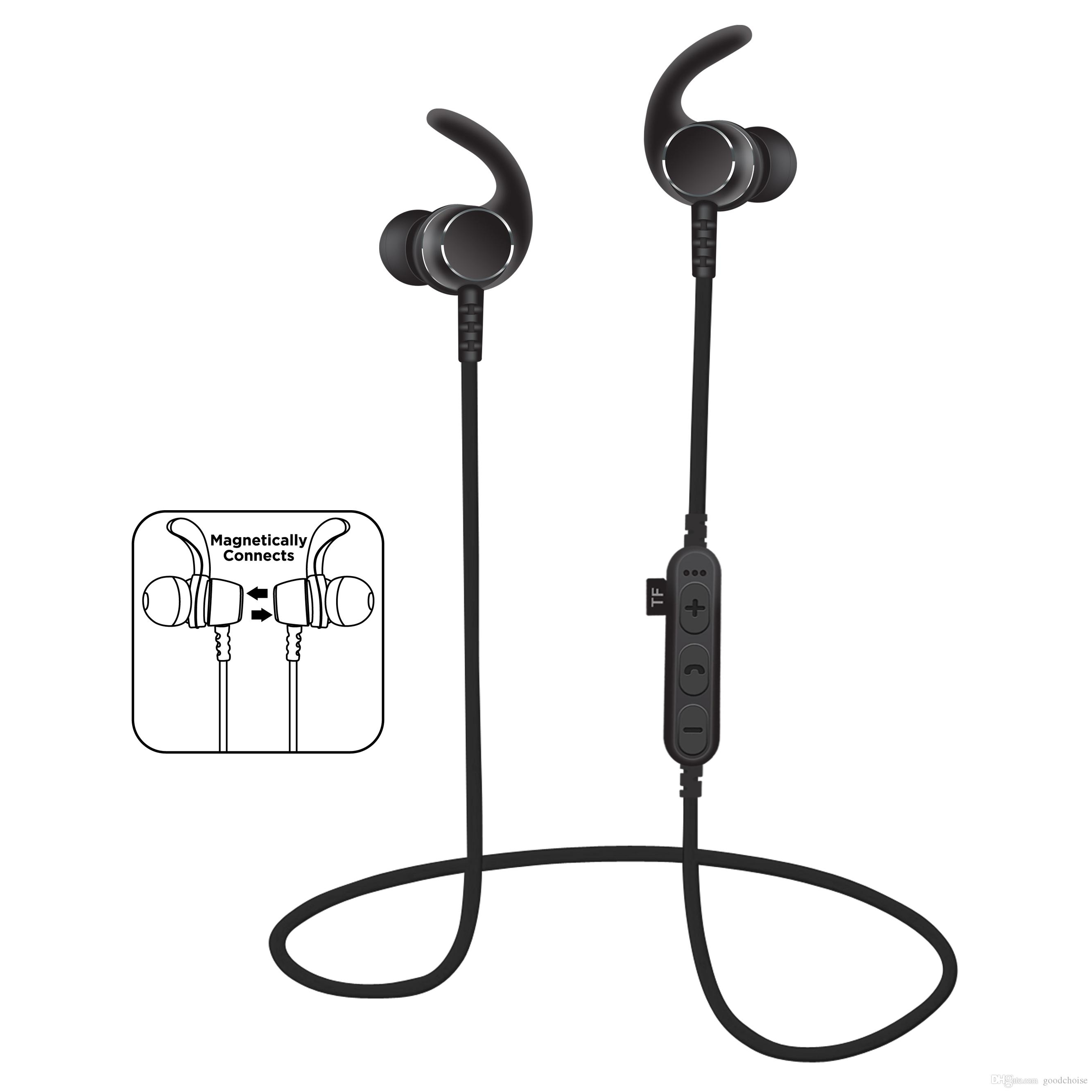 MS-T3 Magnetic sport Wireless Bluetooth headset earphones earbuds BT 4.2 headphones With Mic MP3 Stereo For smart phone