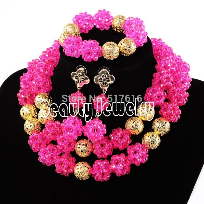 2015 New Arrival Handmade African Beads Crystal Jewelry Sets ...