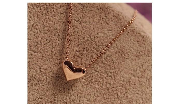 Elegante zoete liefde hart ketting korte gouden vergulde claviculaire hanger kettingen sieraden ketting kettingen merk H M dezelfde stijlen Gratis DHL