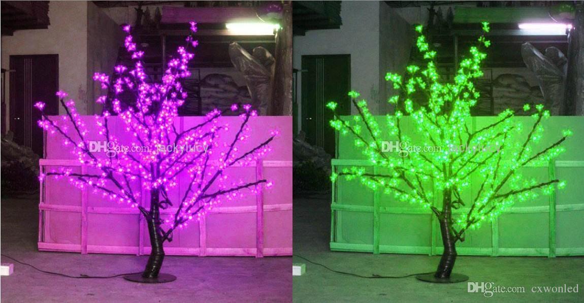 Bellissimo LED Cherry Blossom albero di Natale che illumina P65 Lampada da giardino con decorazione impermeabile decorazioni natalizie