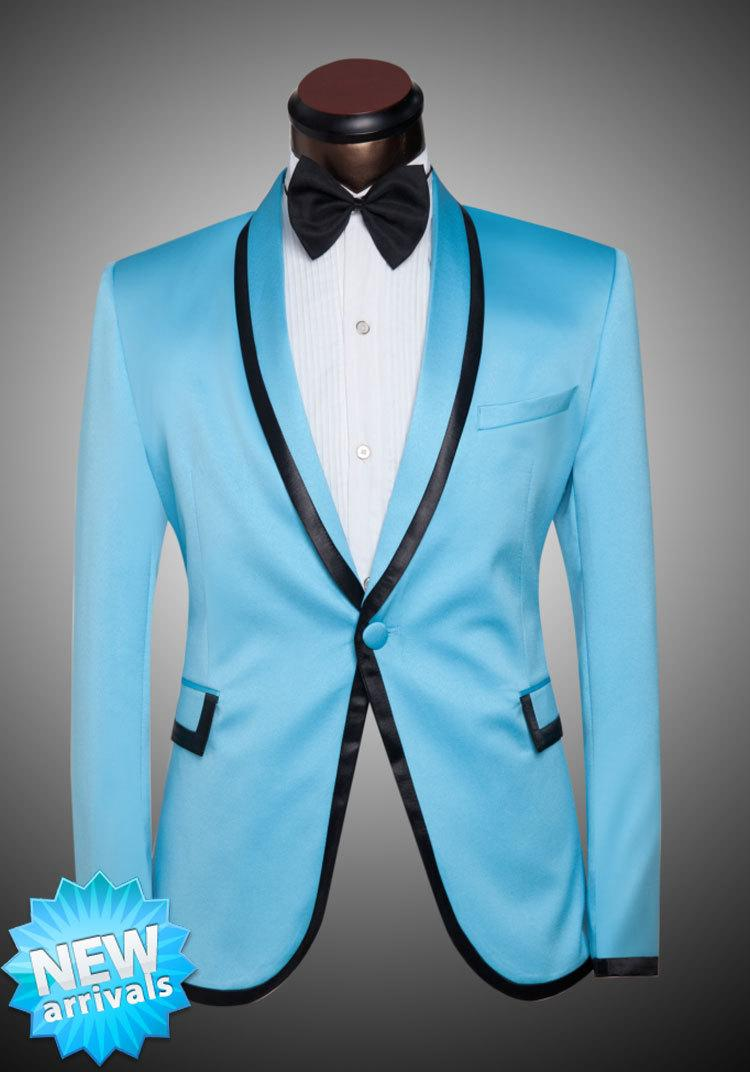 2018 Fg1509 2015 New Arrival Men Suit Spring Korean Fashion Sky Blue ...