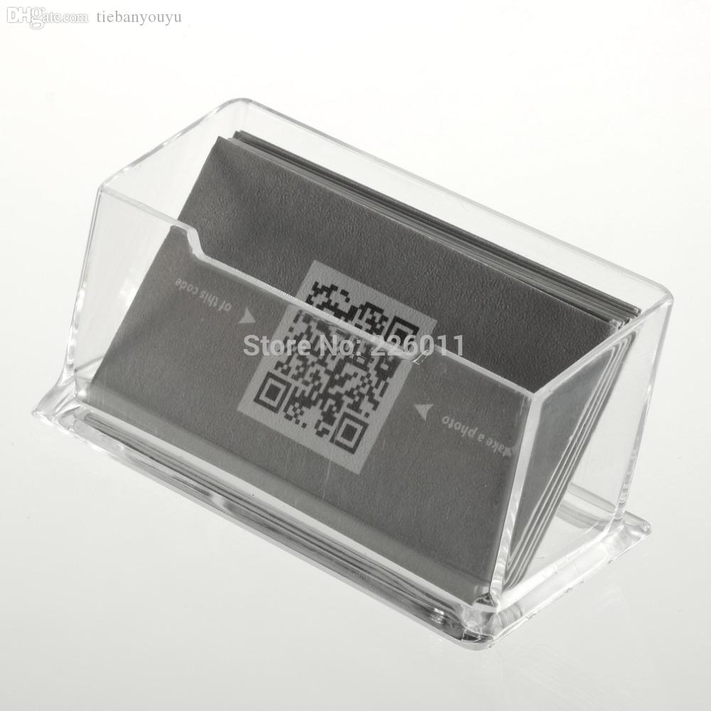 Wholesale new business card holder display clear desktop stand wholesale new business card holder display clear desktop stand acrylic plastic desk shelf brand new womens credit card wallet bags men from tiebanyouyu colourmoves