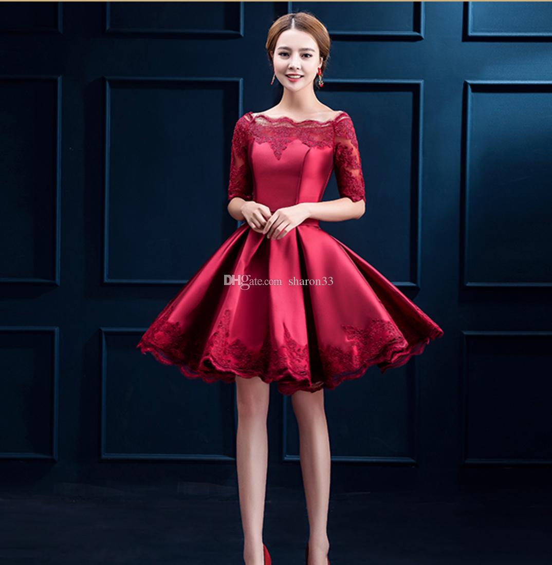 Christmas Eve Dresses.Emmani 2016 Applique Sheer Christmas Dresses Long Sleeve Evening Formal Gowns Red Embroidery Prom Christmas Eve Party Dress Sexy Plus Size Party