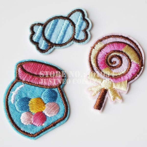 2018 Lovely Candyjar Iron Onsew On Embroidery Fabric Patch Cloth