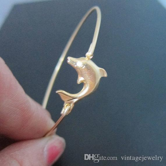 Hot Sale Dolphin Bangle Sea Themed Bracelet 2015 Europe and the United States jewelry YPQ0122