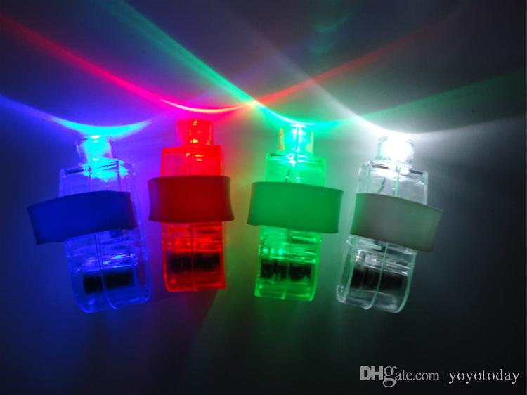 Hot Sell High Quality LED Laser Finger Ring Lights Beam Torch Party Light-Up Toys for Children