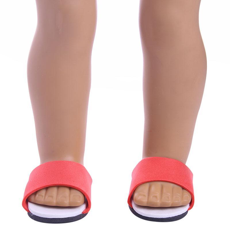 أنماط مختلفة من النعال المصنوعة يدويا ل 18 بوصة دمية فتاة أمريكية لهدية طفل ، 43cm بيبي ولد انطلق ، دمية الملحقات