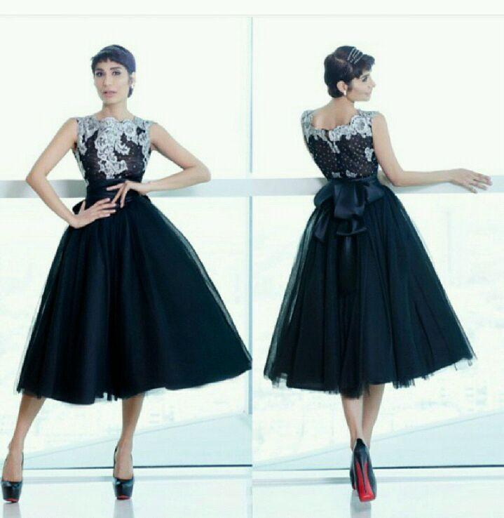 Charming Little Black Evening Dresses Formal Prom Gowns