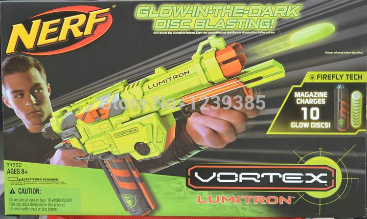 6pcs Nerf Gun glow in the dark disc blasting magazine charges 10 glow discs vortex lumitro