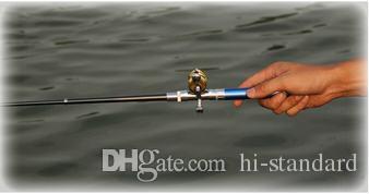Caña de pescar de bolsillo CALIENTE Mini cañas Caña de pescar Cañas de pescar Only20cm Carretes giratorios / de baitcasting en su bolsillo ¡De alta calidad! YWGD