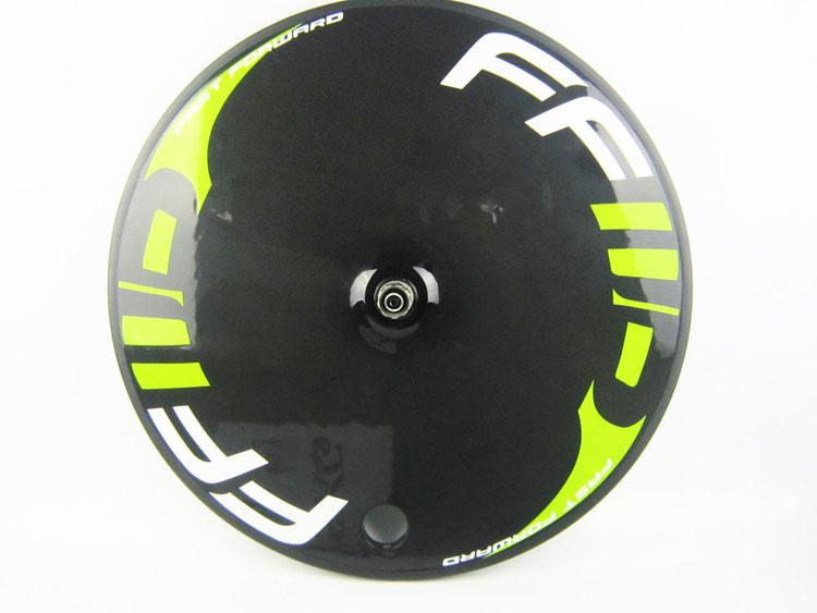 Decals full carbon road bike disc wheels, bicycle rear of track road cycling wheel closed wheel 700C