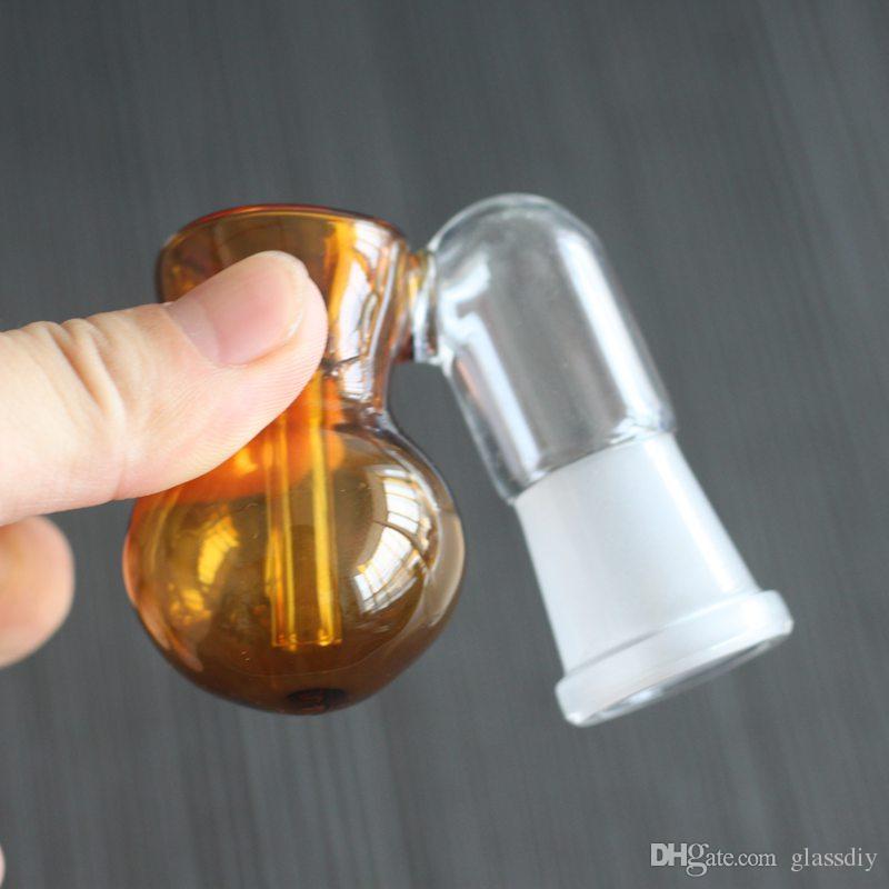 Vidro Cinza Catcher Tigelas Com Macho Fêmea 10mm 14mm 18mm Vidro Perc Ashcatcher Tigelas Cinzas Apanhador de Vidro Bubbler Adaptador para bongo de água