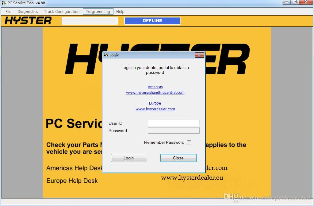 2016 Hyster PC Service Tool V 4.88With Level 0-4 ...