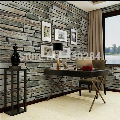 Stone wallpaper vinyl dining room 3d brick wallpaper roll for 3d wallpaper for dining room