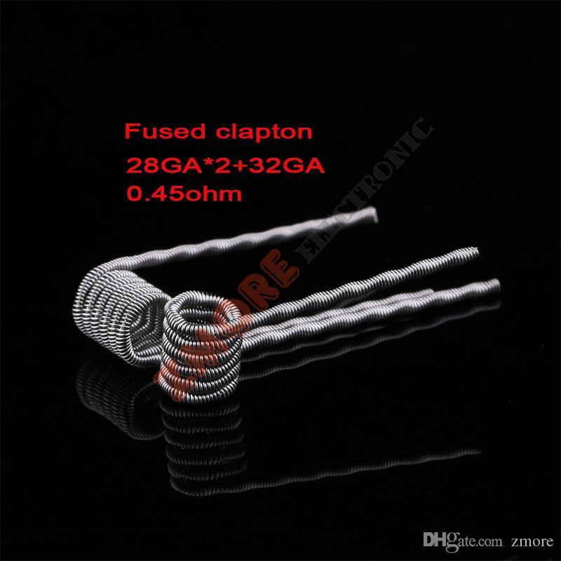 Clapton Wire Coils Cavo a spirale piatta Twape Hive Cavo di riscaldamento Tiger Quad Mix a spirale Twisted Clapton Alien Ecigs RDA RBA