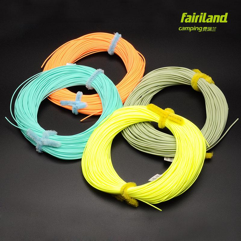 4pcs 100FT/30M Durable Fly Fishing Line No Loop Weight-forward Fly Main Line WF-3F/4F/5F/6F/7F/8F Fly Fishing Floating Line