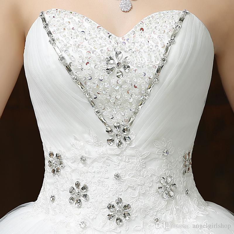 Diamond A Line Tulle Beach Wedding Dresses With Bow Cheap Jewel Neck Sweep Train Vintage Wedding Bridal Gowns robe de mariée