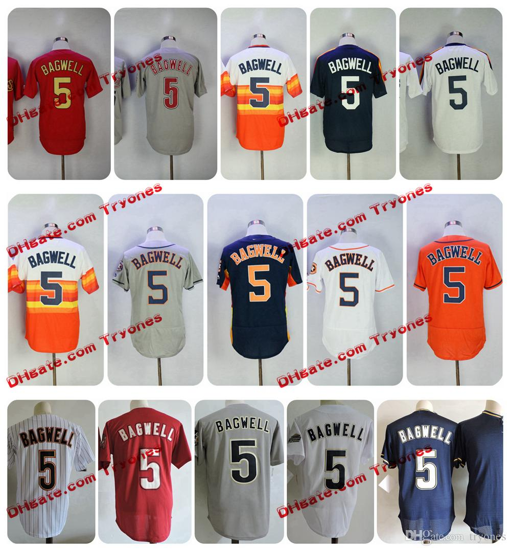 70662a2eb ... 2017 Throwback Houston Astros Jeff Bagwell Baseball Jersey Cool Base  Cooperstown Rainbow 5 Jeff Bagwell Jersey ...